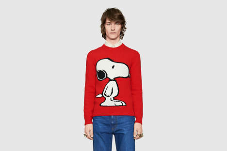 Luxe Cartoon Canine Apparel - Gucci's New Collection Includes a Dedication to the Snoopy Character