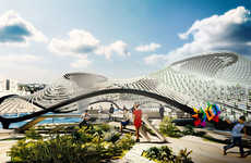 Amphibious Purification Pavilions - 'Foram' is a Coastal Building Designed to Cleanse Local Water