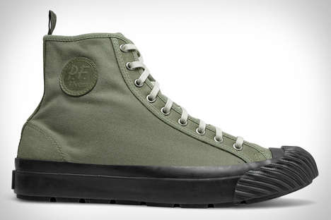 Military-Inspired High-Tops - These Shoes Were Inspired by Vintage Sneakers from the 20th Century