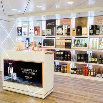 Multi-Sensory Liquor Shops - Pernod Ricard's Cruise Ship Store Educates and Inspires Consumers
