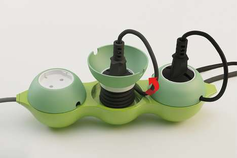 Vegetable-Shaped Chargers - The Arrangement PEA Power Extension's Round Pods Declutters Device Wires