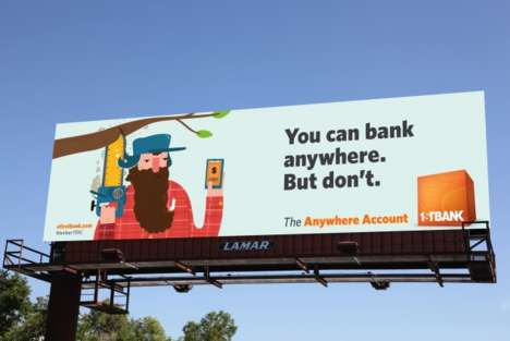 Humorous Banking Billboards - These Comical Bank Ads Encourage Customers to Hold Back on App Use