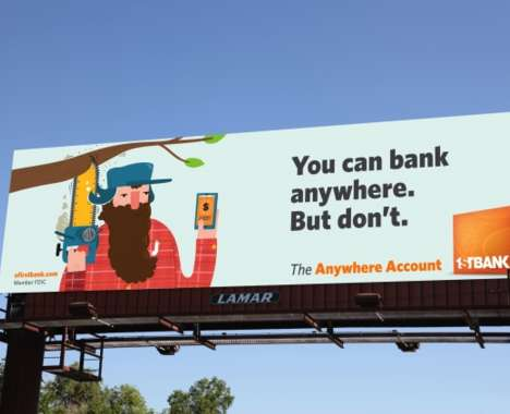Humorous Banking Billboards