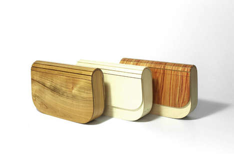 Minimalist Wooden Purses - Cabinetmaker Vincent Louchard Makes One-of-a-Kind Handbags
