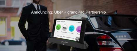 Elderly Rideshare Initiatives - grandPad Teamed Up with Uber to Help Seniors Get Around