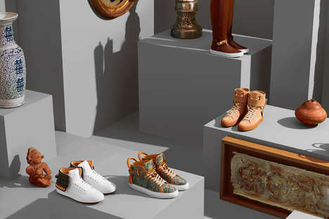 Overtly Opulent Sneakers - The New Buscemi Shoes Feature Luxurious Materials and Bold Colorways