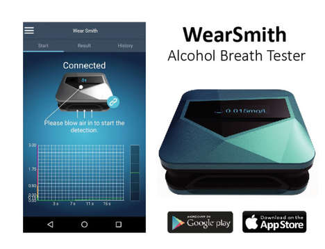 Pocket-Sized Breathalyzers - 'WearSmith' is the Smallest Bluetooth Breathalyzer Detector