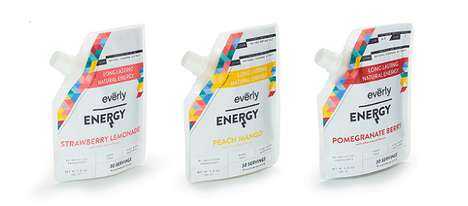 Energized Drink Mixers - The Everly Energy Pouches Contain Naturally Caffeinated Beverage Blends