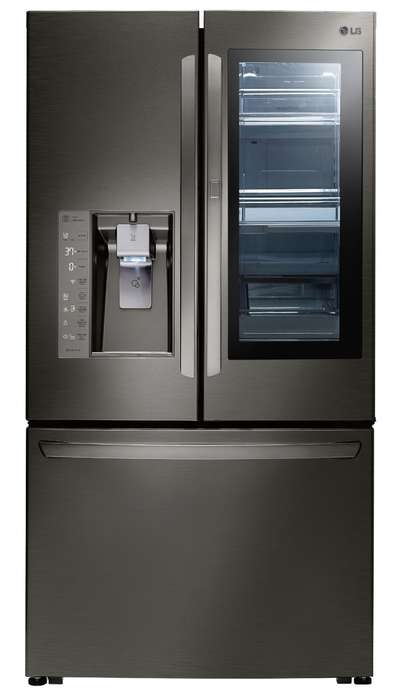 Preserving Freshness Fridges - LG InstaView Refrigerator Decreases Escaping Cold Air To Sustain Food