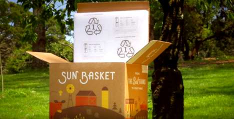 Compostable Meal Delivery Boxes - The Sun Basket Meal Delivery Service Uses Sustainable Packaging