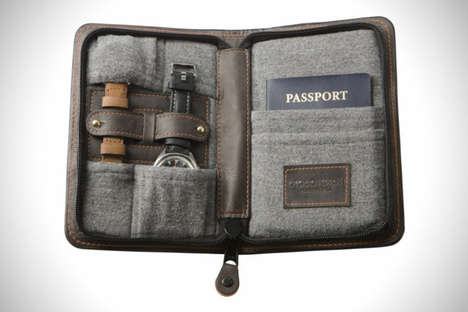 Travel Watch Wallets - The Discommon Leather Zipper Case Provides a Sleek Place to Keep Accessories