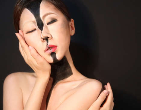 Surrealist Makeup Looks - Dain Yoon Creates Optical Illusions With The Face Using Cosmetic Products