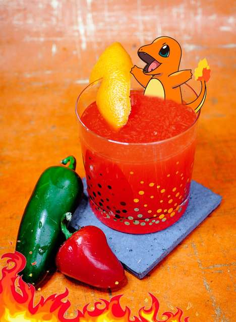 Anime Monster Cocktails - These Boozy Beverages are Aesthetically Themed After Pokemon Characters