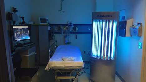 Hospital-Sterilizing Robots - This Robot Uses Ultraviolet Light to Clean Hospital Rooms
