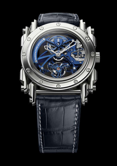 Steampunk-Styled Watches - This Luxury Watch's Movement is Designed to Counter Gravity's Effects