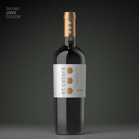 Punctuated Wine Branding - This Sophisticated Wine Bottle is Named After a Popular Term