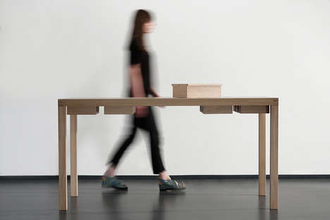 Compartmentalized Art Desks - Laura Mrkša Created a Modular Table That Keeps Everything in Reach
