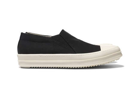 Luxe Cotton Sneakers - Rick Owens' Collection is Minimalist, Masculine and Alternatively Vegan