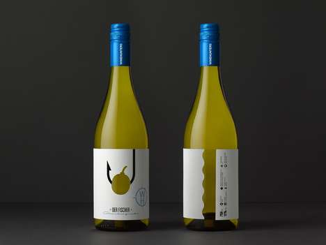 Hunting-Inspired Wine Bottles - These Wine Bottle Labels Feature Endearing Cut-Outs