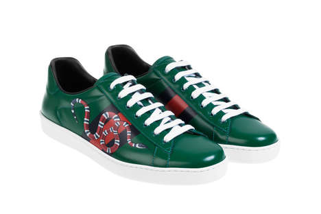 Sleek Snake Sneakers - Gucci is Set to Include a Series of New Luxe Footwear in Its Fall/Winter Line
