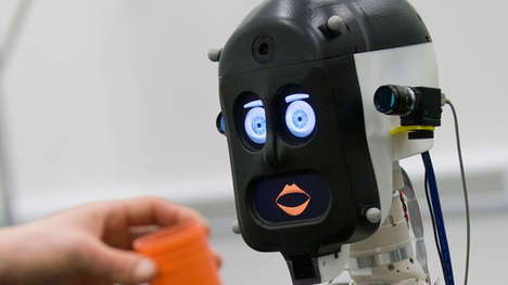 Expressive Robot Faces - The BERT2 Robot Has Emotive Eyes, Eyebrows and Lips