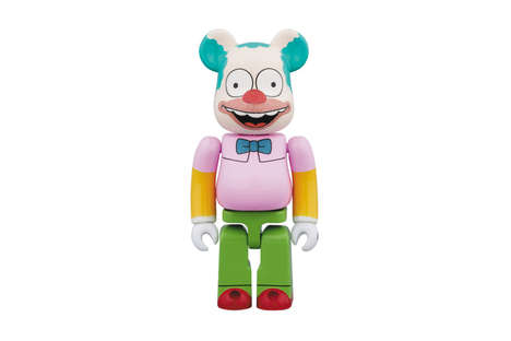 Cartoon Clown Figurines - Medicom Toy Created a Krusty the Clown Version of Its Bearbrick Model