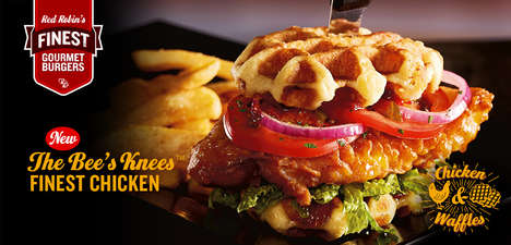 Spicy Waffle-Topped Sandwiches - Red Robin's New Sandwich Puts a Spicy Twist on a Southern Dish