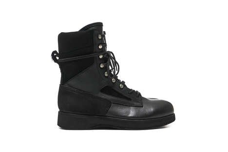 Luxe Onyx Boots - Sacai & Hender Scheme's Military-Style Boots Have a Price Tag of $1,395 USD