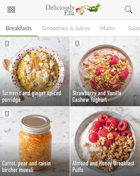 Culinary Blogger Apps - Online Chef Deliciously Ella Shares Her Recipes in a Portable App Platform