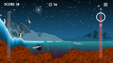 Apocalyptic Antarctic Apps - This Interactive Game Spells Out the Plight Of Antarctica's Penguins