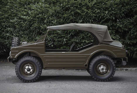 Militant Hunting Autos - The Porsche 597 Jagdwagen Offers a Hybrid Shape Built For Trail Tracking