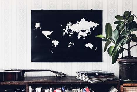 Peel-Off World Travel Maps - These Maps Offer a Playful Way to Track Travels