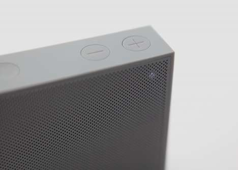 Magnetically Mounted Speakers - This Wireless Speaker Can Be Attached to Any Metal Surface