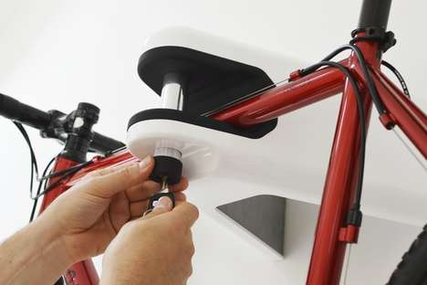 Wall-Mounted Bicycle Brackets - The Airlok Bracket Keeps Your Bike Secure and Out Of Your Way