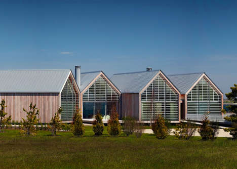 Barn-Inspired Ocean Houses - This Home's Gabled Roofs are Inspired By Local Rural Architecture