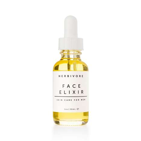 Masculine Moisturizing Elixirs - Herbivore's Face Serum Uses Oils to Soothe Active and Shaven Skin