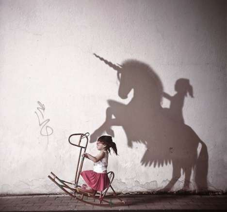 Fantastical Shadow Photography - Kelly Tan Projects Imagined Worlds with Her Daughter at the Center