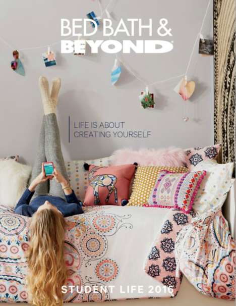 Digital Dorm Room Magazines - Bed, Bath and Beyond's College Look Book Offers Dorm Room Inspiration