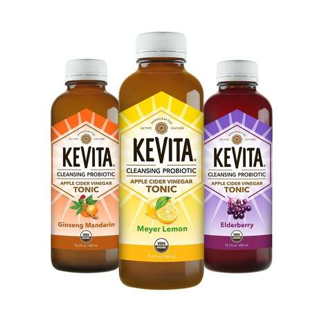Cleansing Probiotic Tonics - The KeVita Carbonated Fruit Drinks Contain Vinegar to Boost Digestion