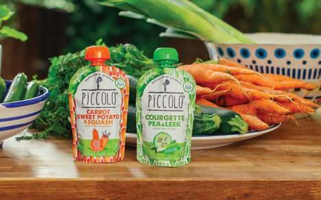 Infant Superfood Meals - The Portable Piccolo Baby Food Serves High Contents of Beet and Kale