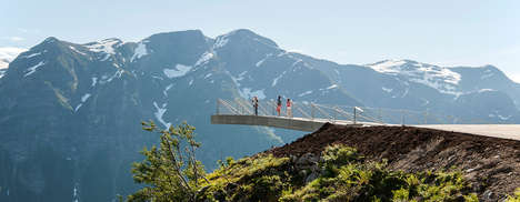 Immersive Landscape Viewpoints - The Utsikten Landing Offers a Temporary Experience in The Mountains