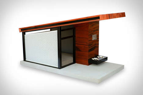 Contemporary Upscale Dog Houses - This Dog Home is Perfect for People Who Enjoy Spoiling Their Pets