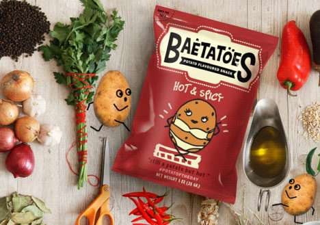 Slang-Inspired Chip Branding - This Chips Brand Concept Uses Humor and Graphics to Sell Itself
