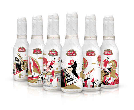 Illustrated Beer Bottles - These Limited-Edition Stella Artois Beers Represent Different Lifestyles