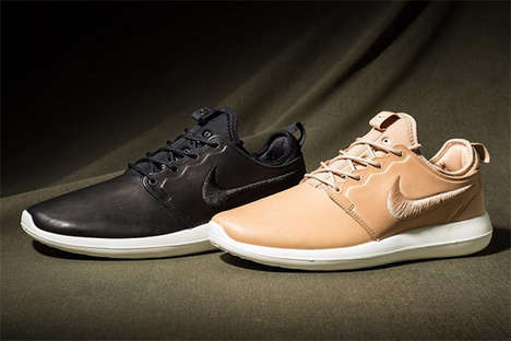 Sleek Leather Shoes - Nike's Newest Roshe Collection Will Be Offered in Leather
