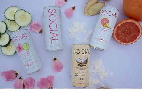 Saké Wine Cans - Social's Low-Calorie and Low-Sugar Alcohol is Organic and Gluten-Free