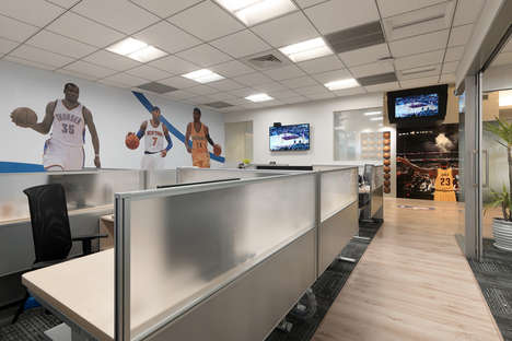 Basketball-Themed Offices - The NBA Office in Taipei, Taiwan Has an Unsurprising But Unique Theme