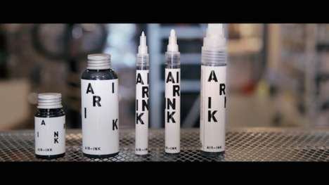 Pollution-Made Ink Products - These Ink Items Were Designed to Make a Statement on Air Quality