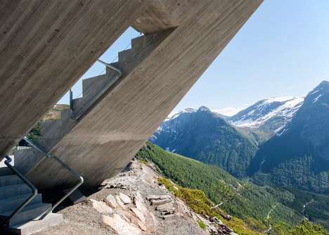 Triangular Mountain Platforms - This Viewing Platform Offers Stunning Views Of the Landscape