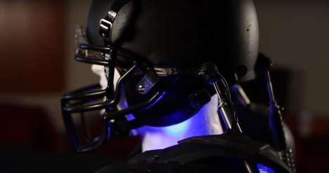 Concussion-Preventing Helmets - This Helmet and Shoulder Pad Technology Proactively Detects Impact